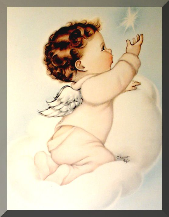 """vintage babys in magazines 