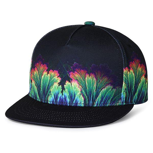 Colorful Art Splatter Womens Adult Cap Adjustable Cowboys Hats Black