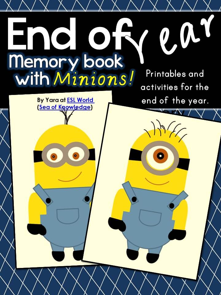 This pack is full of MINION fun and end of year activities and printables for students in grades K-3. The activities are designed to be printed off and completed as a class, group or individually. It's a great way to cap off the year! :) $