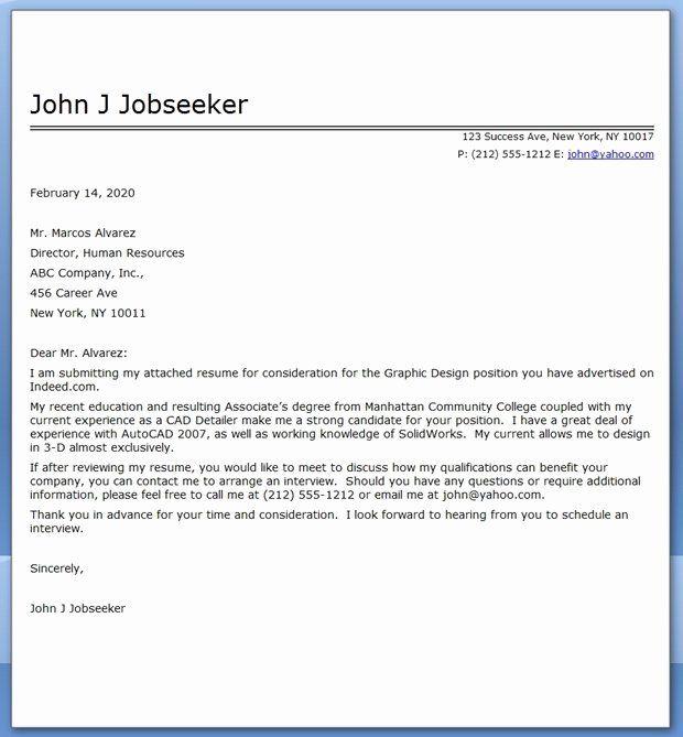 Graphic Designer Resume Pdf Best Of Graphic Design Cover Letter Sample Pdf In 2021 Cover Letter For Resume Job Cover Letter Examples Job Cover Letter