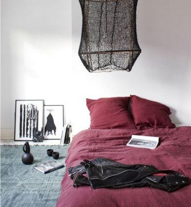 Linge de lit couleur Marsala