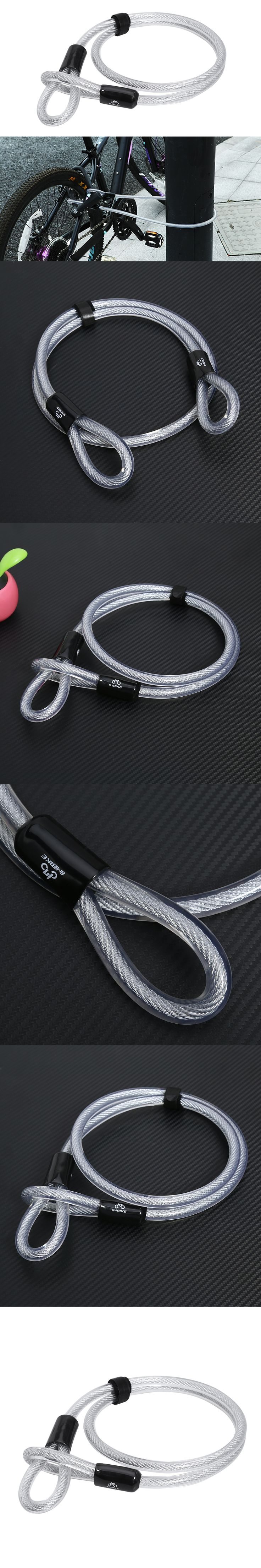 Cable Lock 1.2m/3.94ft Anti Theft Bike Lock Thickened Extende Steel Safe Bicycle PVC Security MTB Mountain Road Bicycle Lock