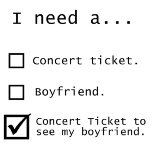 """I need a concert ticket to see my boyfriend! Who's that """"other"""" guy in your life? Paul Hoffman Greensky Bluegrass le sighhhh"""