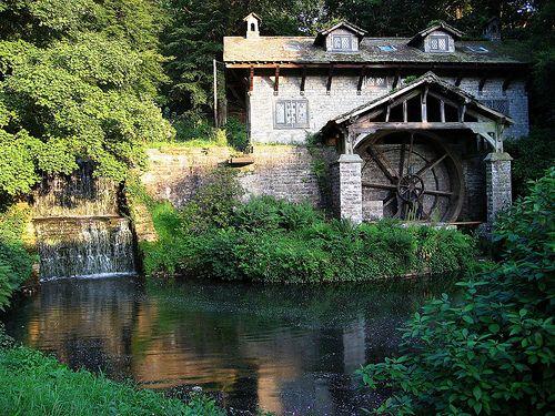 The Water Mill, Osmaston Park, Near Ashbourne, Derbyshire by Geraldine Curtis,
