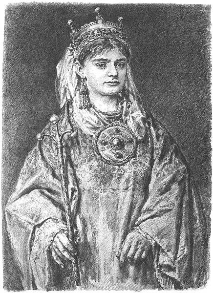 Richeza (Ryksa) of Lorraine, the emperor Otto III's niece. Richeza secretly left Poland, taking with her to Germany the royal insignia.