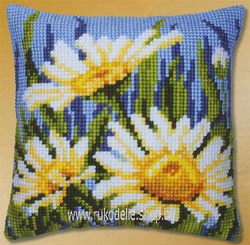 Набор для вышивки крестом Vervaco подушка Ромашки в траве PN-0008520