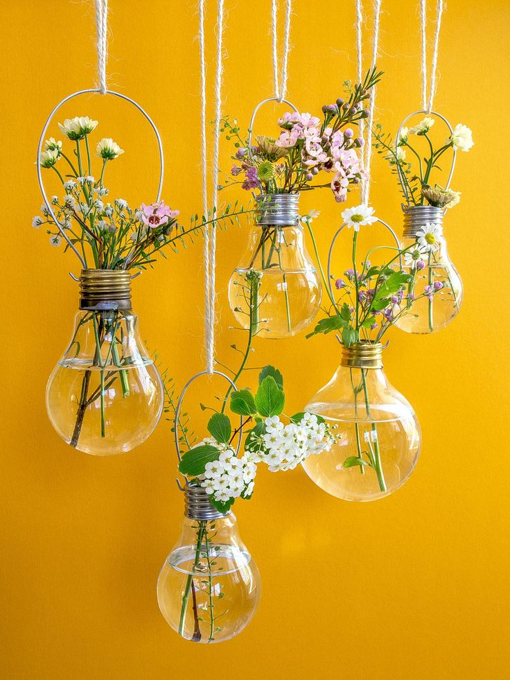Spring flowers - light bulb vases