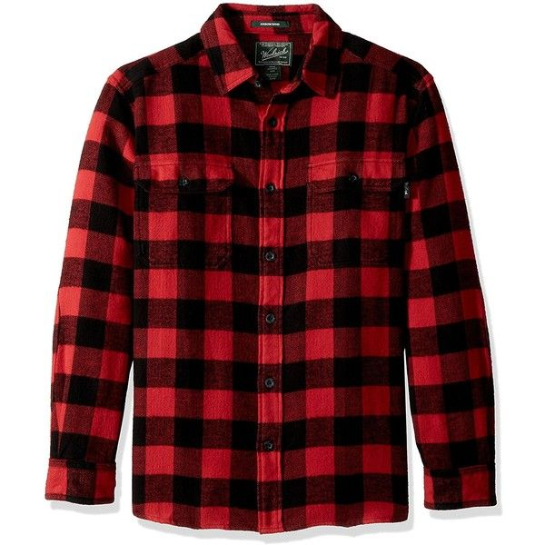 Woolrich Men's Oxbow Bend Flannel Shirt (€54) ❤ liked on Polyvore featuring men's fashion, men's clothing, men's shirts, men's casual shirts, mens flannel shirts, mens casual button down shirts, mens button up shirts, mens red button down shirt and mens red button up shirt