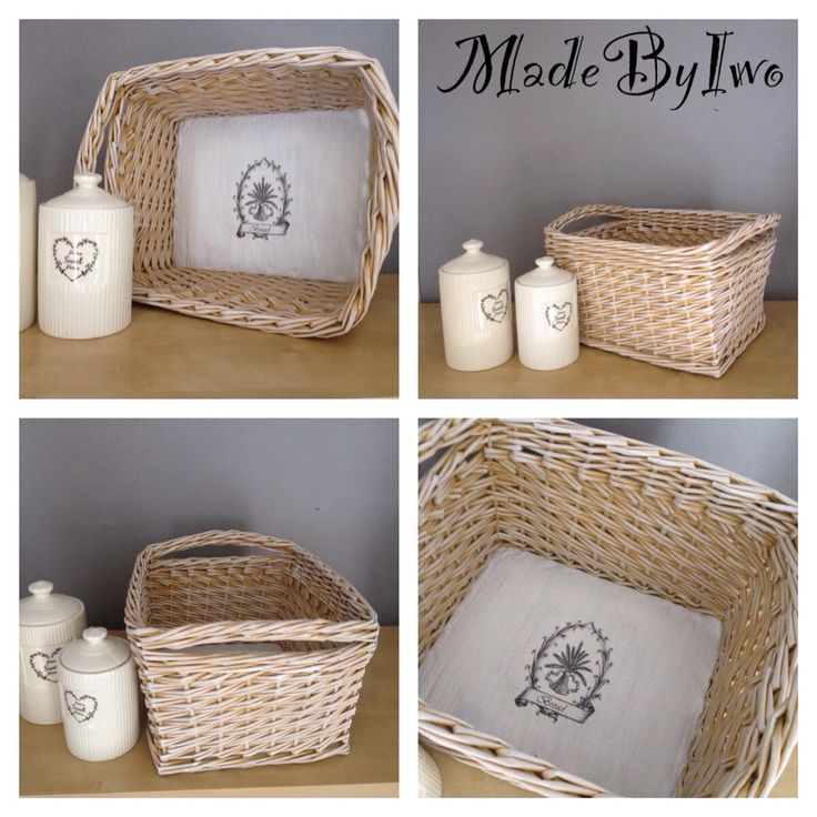 Basket from paper rolls for bread or some bakery stuff