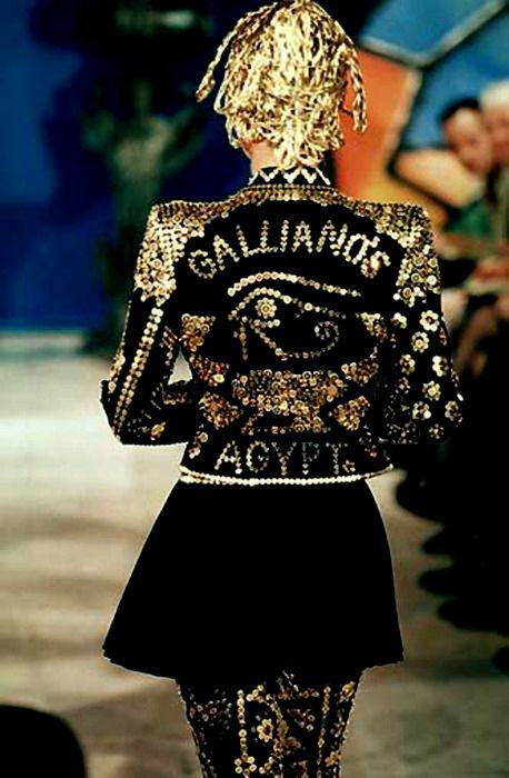 GallianoHaute Fashion, John Galliano, 90S Fashion, Fashion Decadent, 90S Gold, Galliano 1997, High Fashion, Brass Fastening, Haute Couture