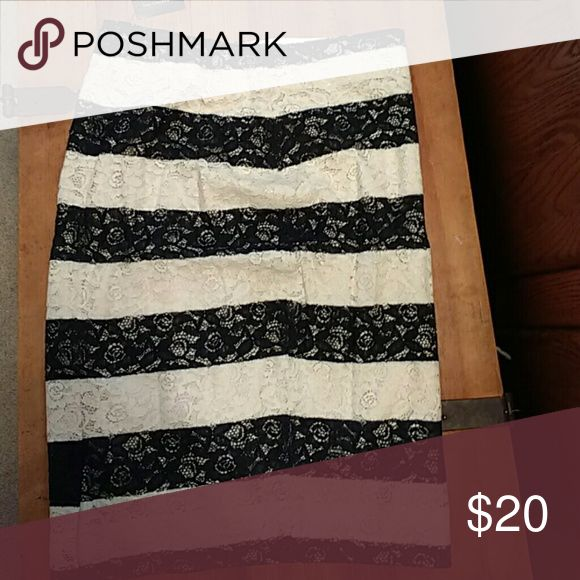 NWT The Limited Lace black and white skirt NWT The Limited Skirts Pencil