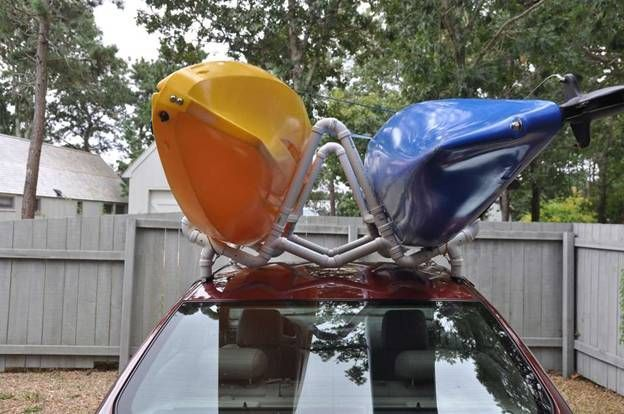Don't pay hundreds of dollars for a tandem kayak roof rack. Build one for $50 or less. I'm doin' this.