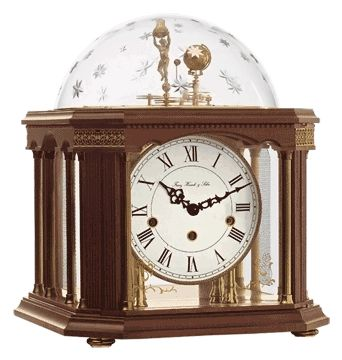 Hermle Tellurium III Astronomical Clock.  See full line of astronomical clocks at http://www.clockshoppes.com/tellurium-and-astrolabium.aspx .
