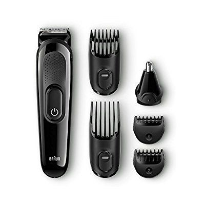 Braun MGK3020 Multi Grooming Kit, 6-in-1 Beard and Hair Trimming Kit with Nose Trimmer Attachment