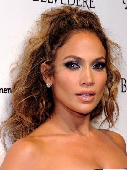 jennifer lopez tousled long curly hairstyle hair dos