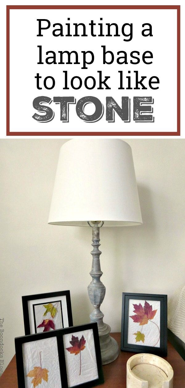 How To Paint A Lamp Base To Look Like Stone Lamp Bases Metal