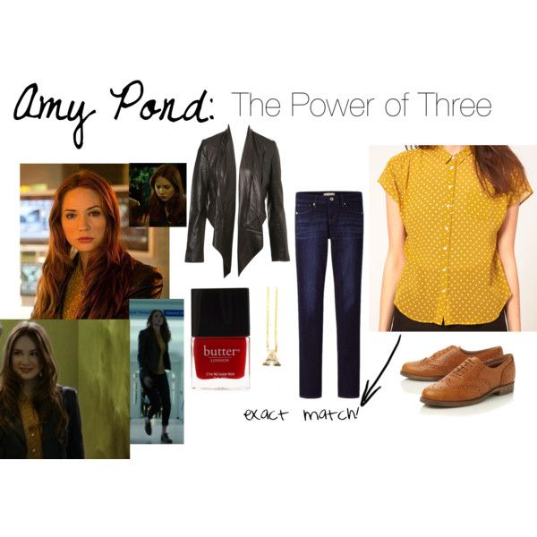 Amy Pond: The Power of Three Outfit by impossiblynikki on Polyvore featuring Whistles, Miss Selfridge, Uniqlo, Dune, Zoë Chicco and Butter London