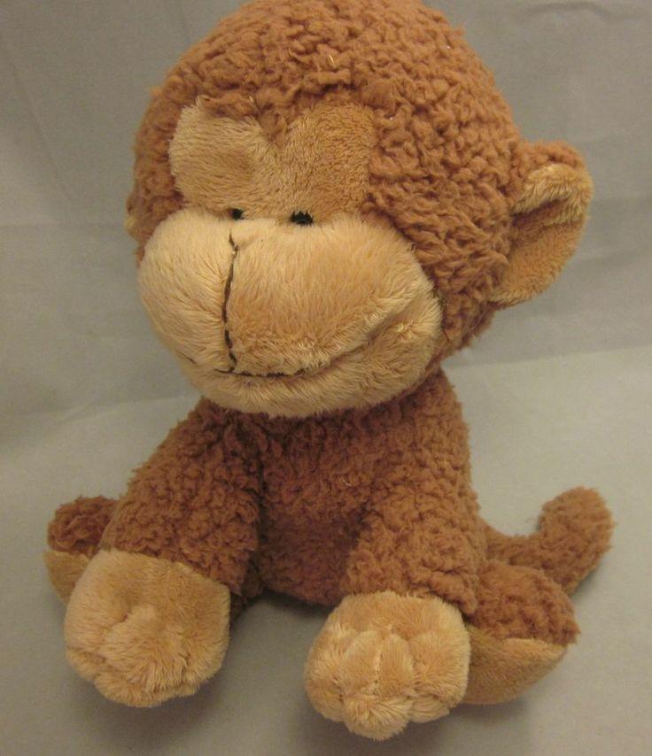 "FAO Schwarz Monkey Brown Tan Stuffed Animal Plush 10"" Toy Cuddly ..."