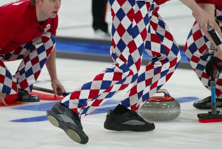 Norwegian curlers put on fashion show to debut crazy pants