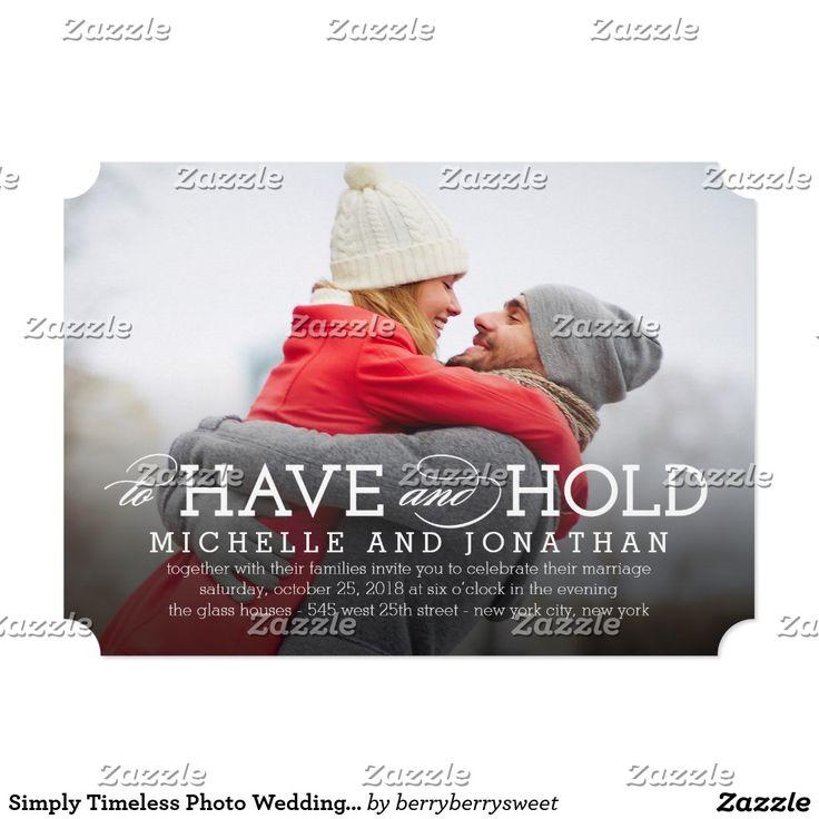 13 best photo wedding invitations images on pinterest invites simply timeless photo wedding invitation stopboris Images