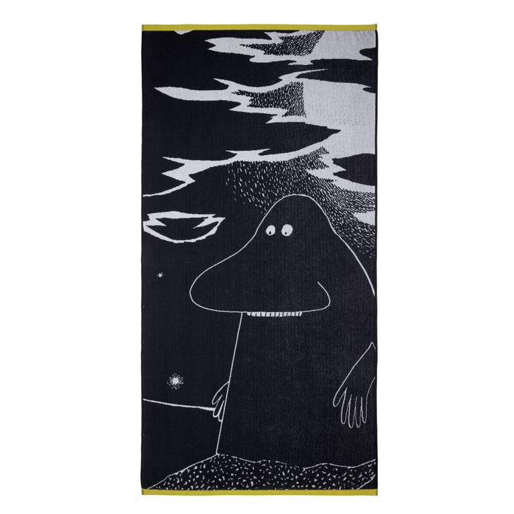 The newest addition to our Moomin towel family. Say hello to Groke!