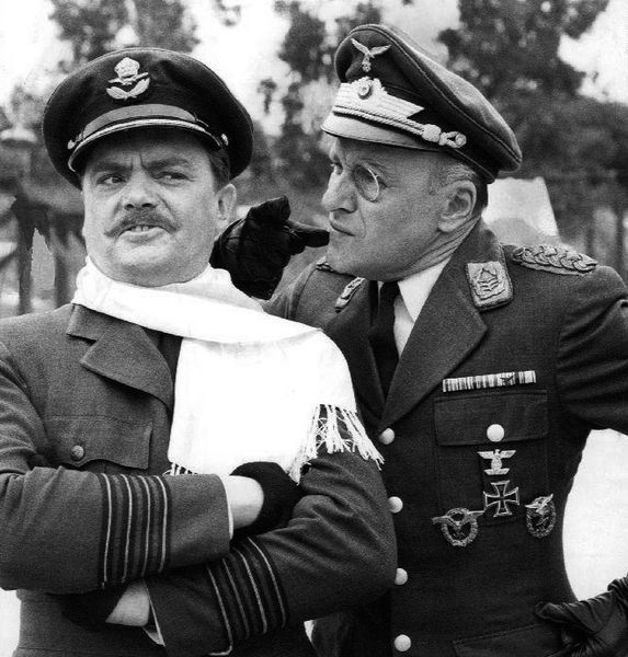 During World War II, Bernard Fox served in the British Royal Navy, while Werner Klemperer served in the U.S. Army.