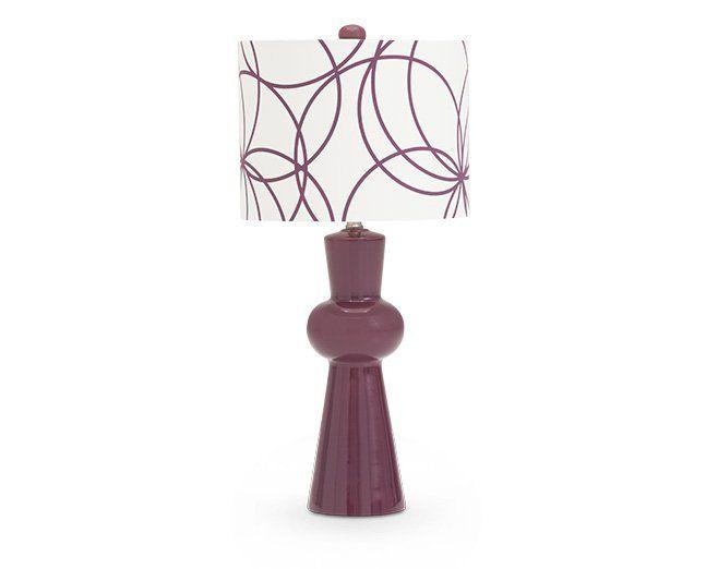 Riley Purple Table Lamp - $55