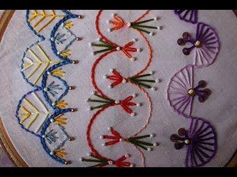 Hand Embroidery Designs | Basic embroidery stitches # Part 8 | Stitch and Flower-98 - YouTube