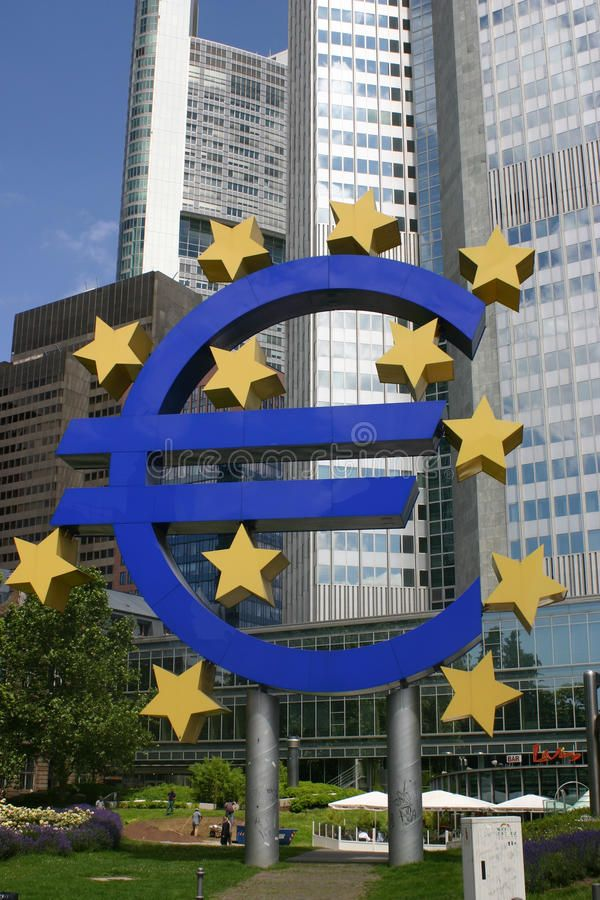 Euro Sign In Downtown Frankfurt Sponsored Sign Euro Frankfurt Downtown Ad Stock Images Modern Graphic Design Graphic Design Art