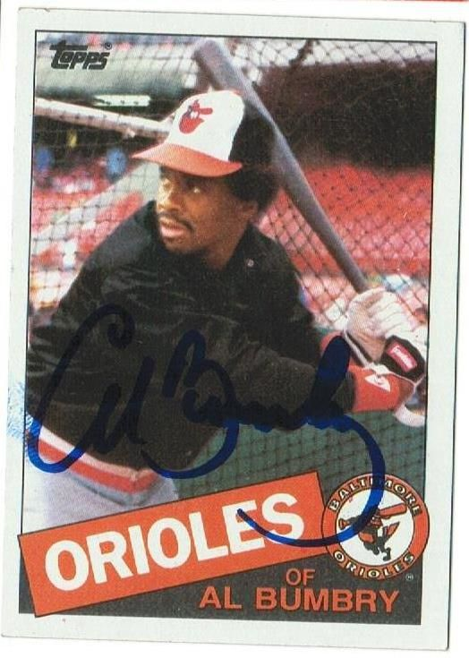Al Bumbry Baltimore Orioles Autographed 1985 Topps Card
