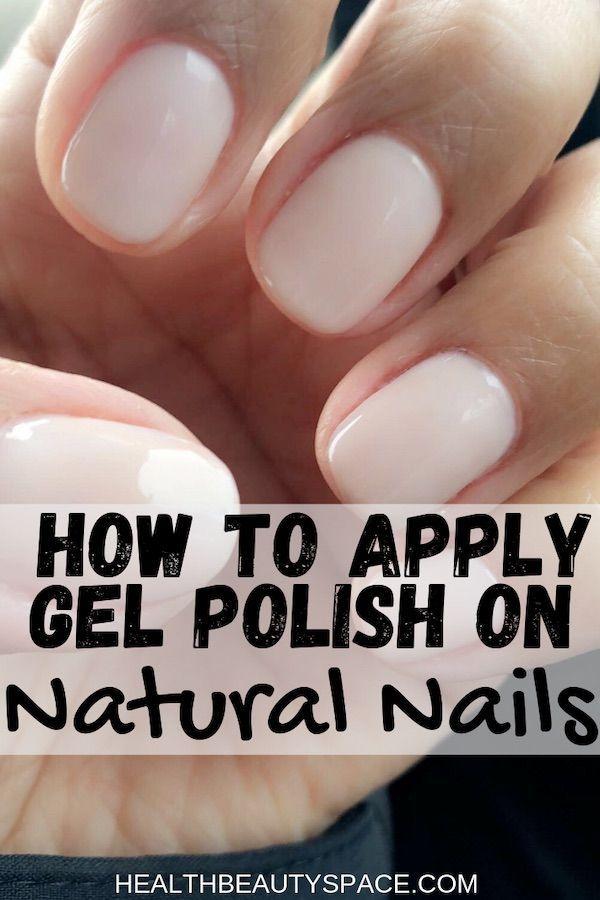 How To Apply Gel Polish On Natural Nails Natural Nails Nails Design With Rhinestones Grey Nail Designs