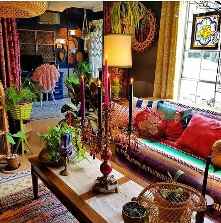 55 Bohemian Living Room Decor Ideas: Bohemian Style Living Room