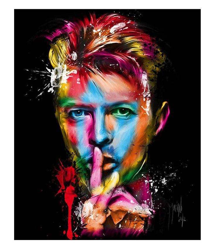 Art Now . Pop Paintings . Patrice Murciano . Pop Grunge . David Bowie