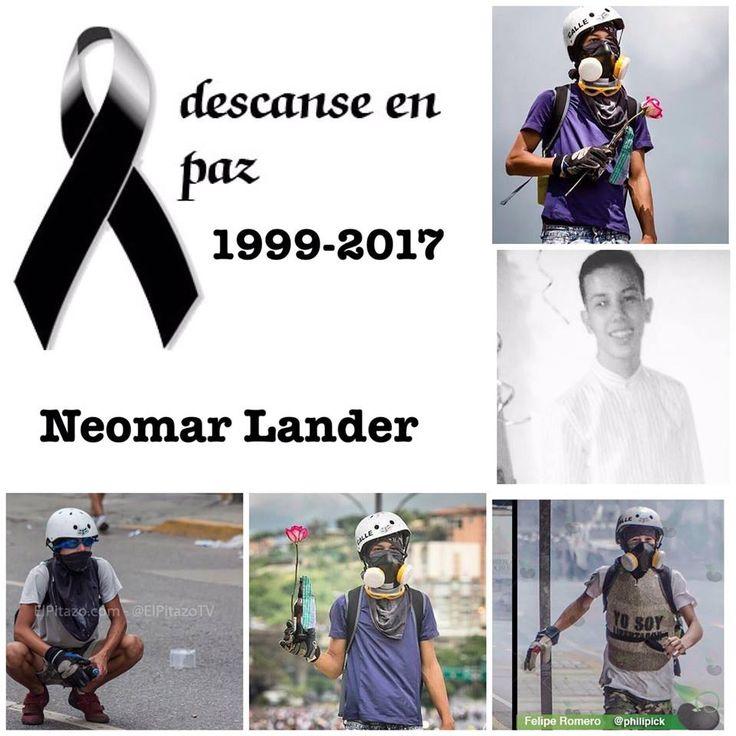 #NeomarLander Gracias por Todo! Héroe Vuela alto Nunca dejastes de luchar por un País Mejor.
