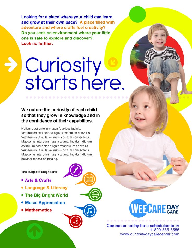 19 best Child Care Marketing images on Pinterest Autism, Birth - daycare flyer template