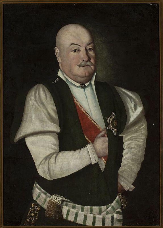 Portret szlachcica w mundurze województwa podolskiego (źródło: cyfrowe zbiory Muzeum Narodowego w Warszawie).
