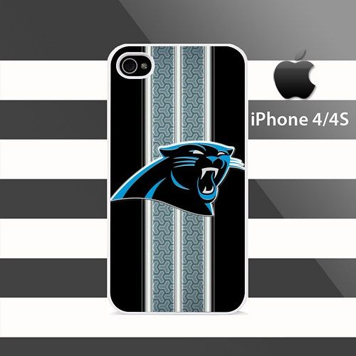 Carolina Panthers Patterns Stripes iphone 4 4s Rubber Case Cover