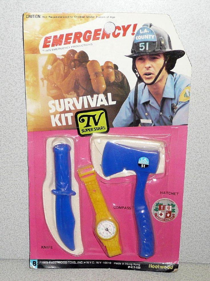 Fleetwood Toys EMERGENCY! TV Series Firefighter Paramedic SURVIVAL SET 1975 MOC