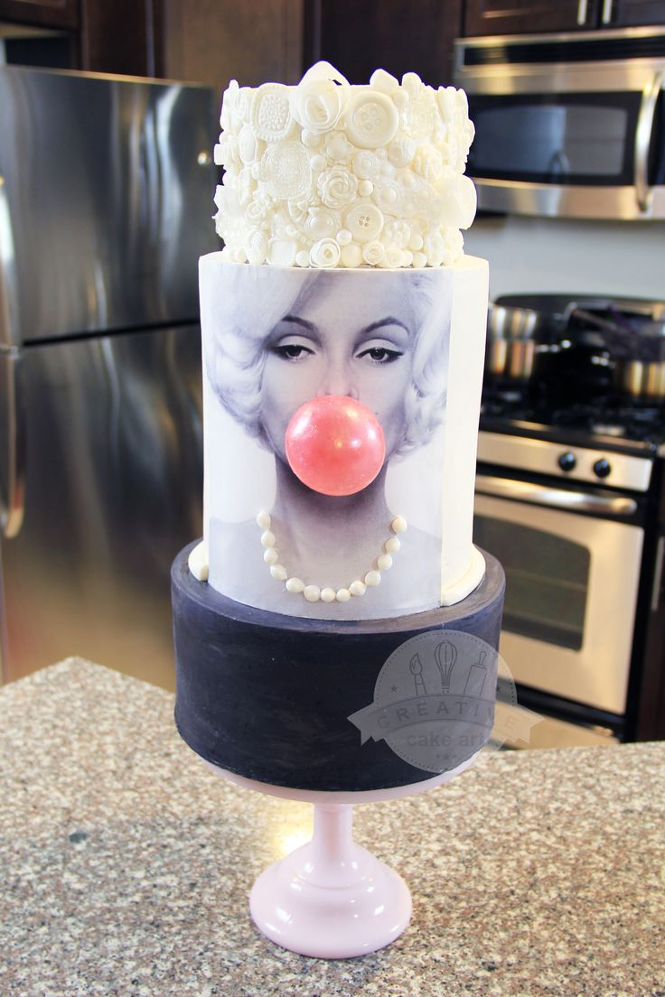 Learn to make this super cute Marilyn Monroe Cake