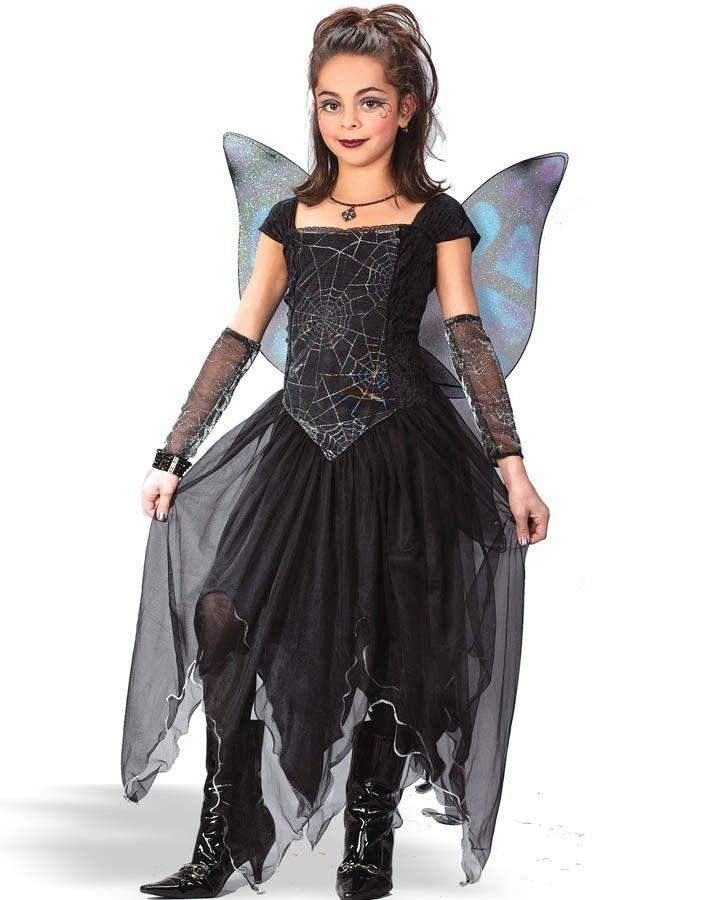 goth fairy princess girls costume