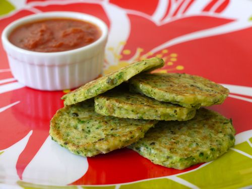 Green Veggie Pancakes (zucchini, broccoli and/or cauliflower)