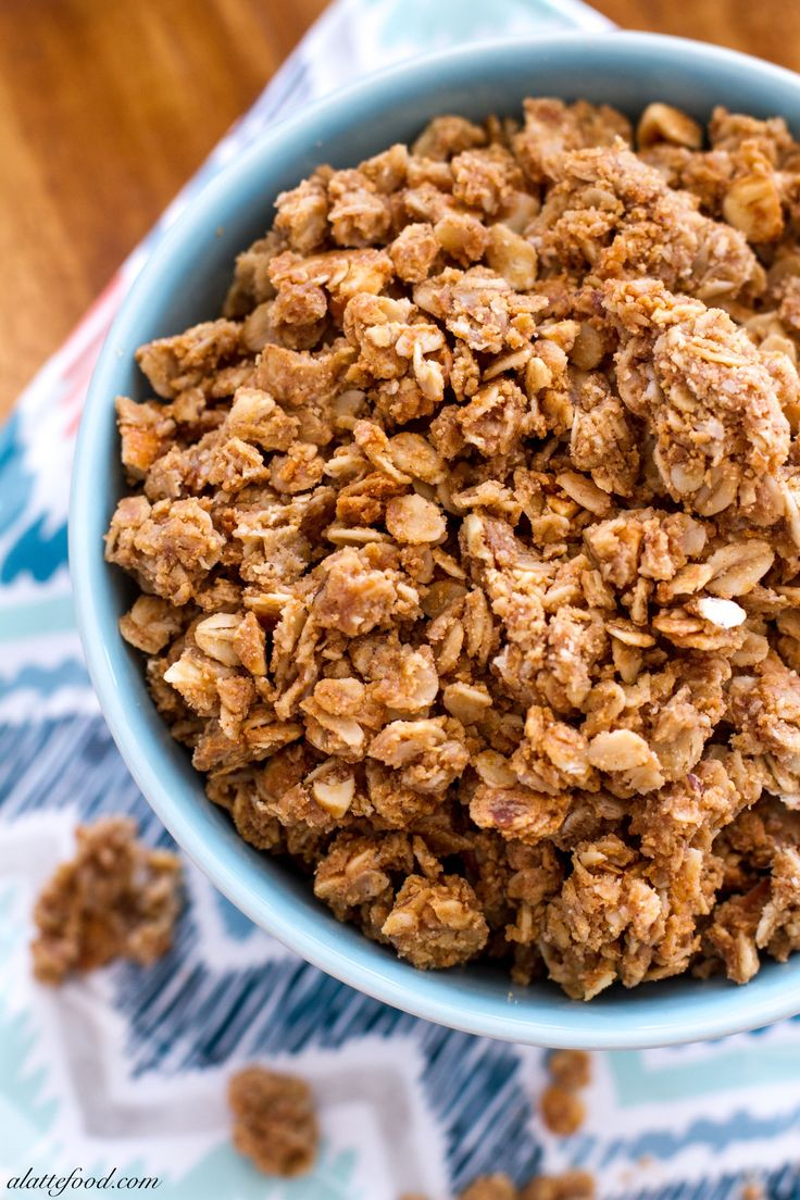 This easy granola recipe is packed with pure, unadulterated peanut butter flavor! | www.alattefood.com