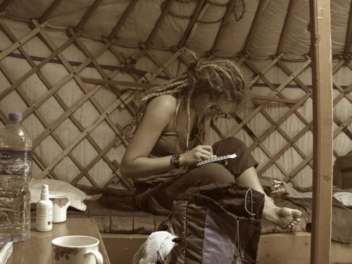 dreads in a yurt {dreaming}