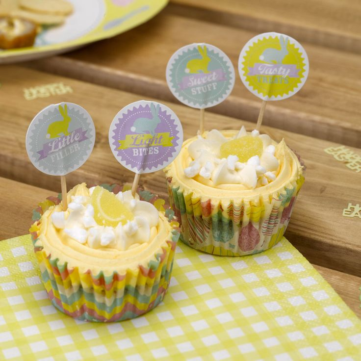 Easter food flags from www.fuschiadesigns.co.uk
