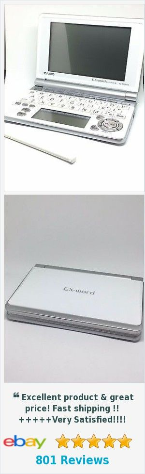 Used Casio Ex-Word Dataplus 4 XD-SP6600 Japanese Translator Dictionary - White | eBay http://www.ebay.com/itm/Used-Casio-Ex-Word-Dataplus-4-XD-SP6600-Japanese-Translator-Dictionary-White-/172778704772