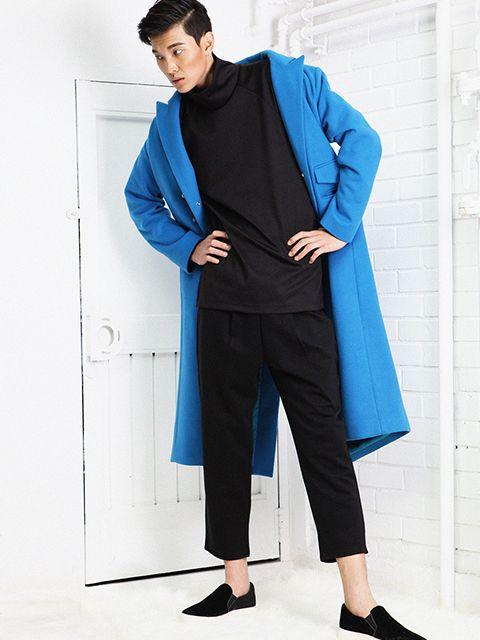 couregiem - button long coat blue