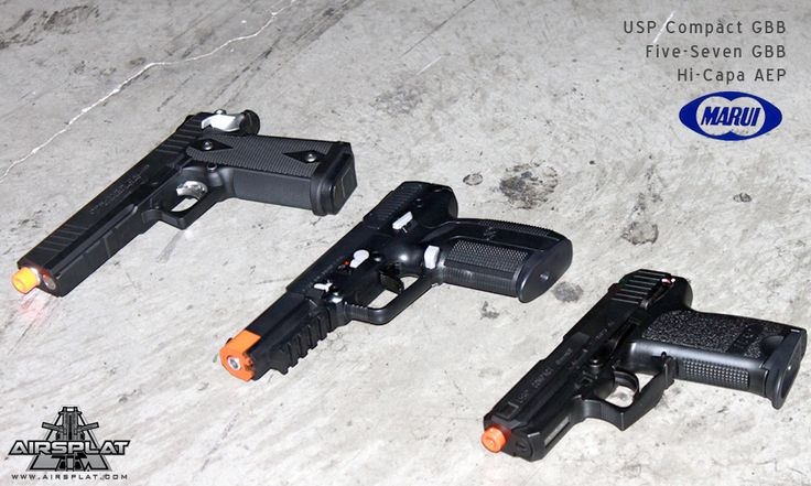 ** SUNDAY SPOTLIGHT!** Check out these brand new Tokyo Marui pistols now in stock at AirSplat!  Tokyo Marui Hi-CAPA Electric Pistol $159.99 http://www.airsplat.com/tokyo-marui-hi-capa-auto-electric-pistol.html  Tokyo Marui Five-Seven $199.99 http://www.airsplat.com/tokyo-marui-five-seven-gas-blowback-gun.html  Tokyo Marui USP Compact $149.99 http://www.airsplat.com/tokyo-marui-usp-compact-gas-blowback-pistol.html  Which pistol would be your secondary?