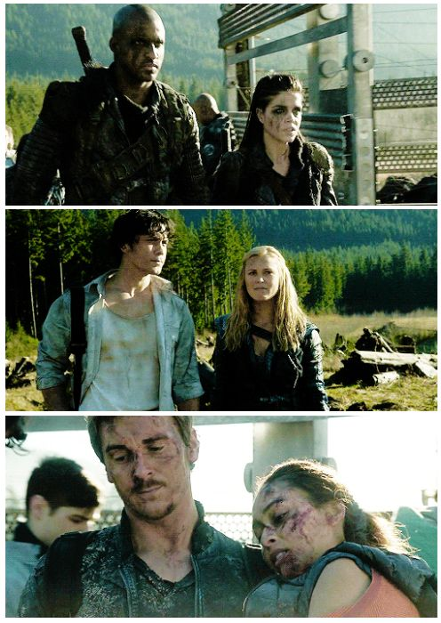 Ships going back to camp || Linctavia, Bellarke and Ravick/Wicken || The 100 season 2 episode 16 - Blood must have blood pt 2 || Lincoln, Octavia Blake, Bellamy Blake, Clarke Griffin, Kyle Wick, Raven Reyes || Ricky Whittle, Marie Avgeropoulos, Bob Morley, Eliza Jane Taylor, Lindsey Morgan and Steve Talley
