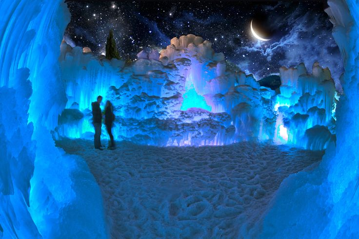 Visit the Ice Castles at Hawlreak Park in Edmonton!