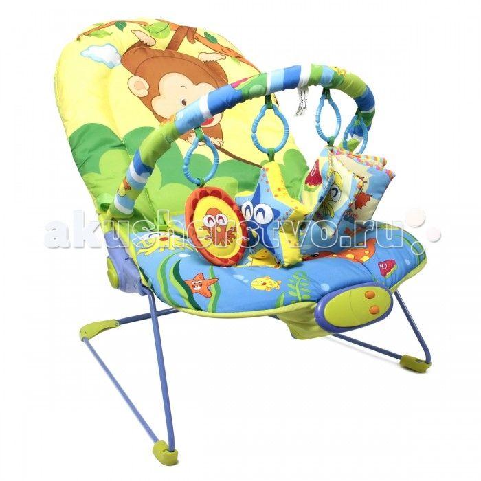 Ути Пути Шезлонг детский Забавная обезьянка  Ути Пути Шезлонг детский Забавная обезьянка, 66 х 50 х 51 см, 1 дуга, 4 игрушки, вибро, музыка.  Шезлонг Обезьянка вибро, музыка, детский, 4 игрушки в наборе. Шезлонг станет прекрасным помощником молодой маме. Ребёнок засыпает, ощущая себя также уютно и комфортно, как рядом с мамой. Баунсер – вибрирующее кресло шезлонг с дугой и игрушками - шезлонг детский с музыкой и вибрацией - это очень удобное и легкое кресло для ребенка, подходящее ему с…